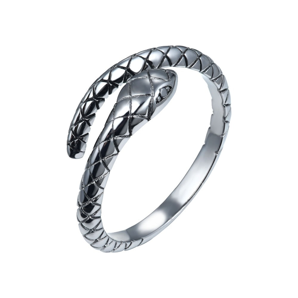 Salacia | Oinousses Ring | 925 Silver | Black CZ | Black Rhodium Plated