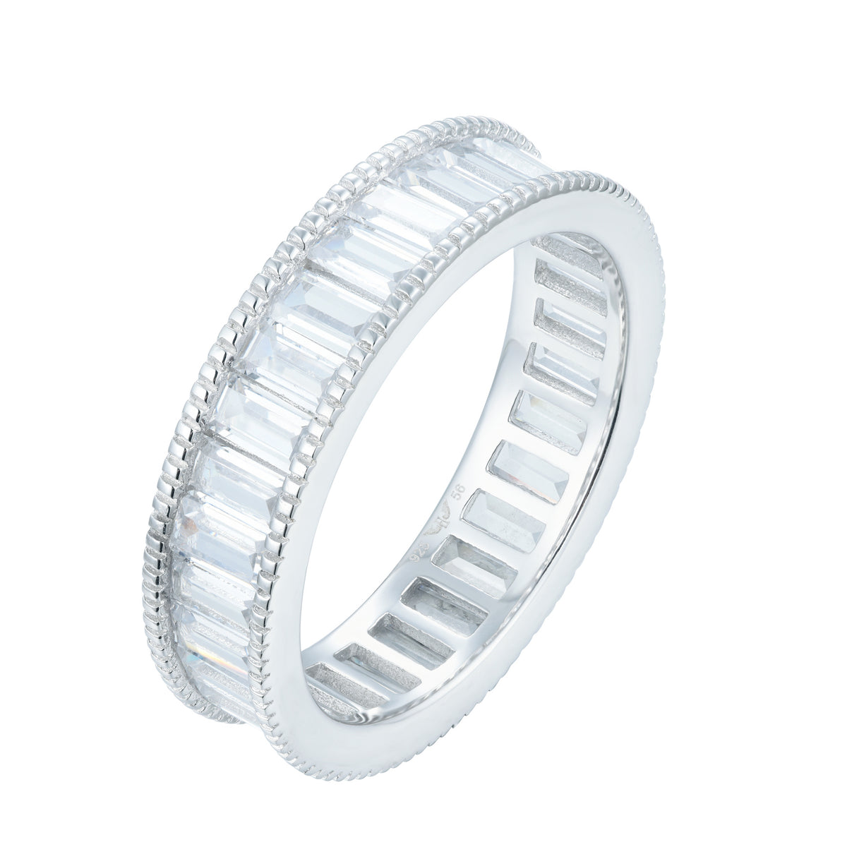 Fortuna | La Spezia Ring | 925 Silver | White CZ | White Rhodium Plated