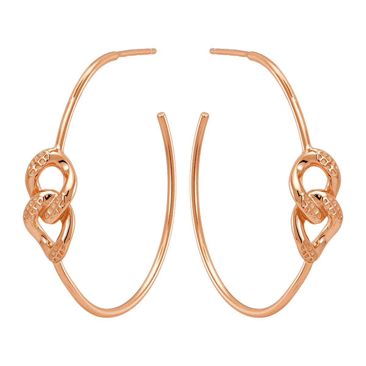 Bellona | Bond Hoops | 925 Silver | Rose Gold Plated