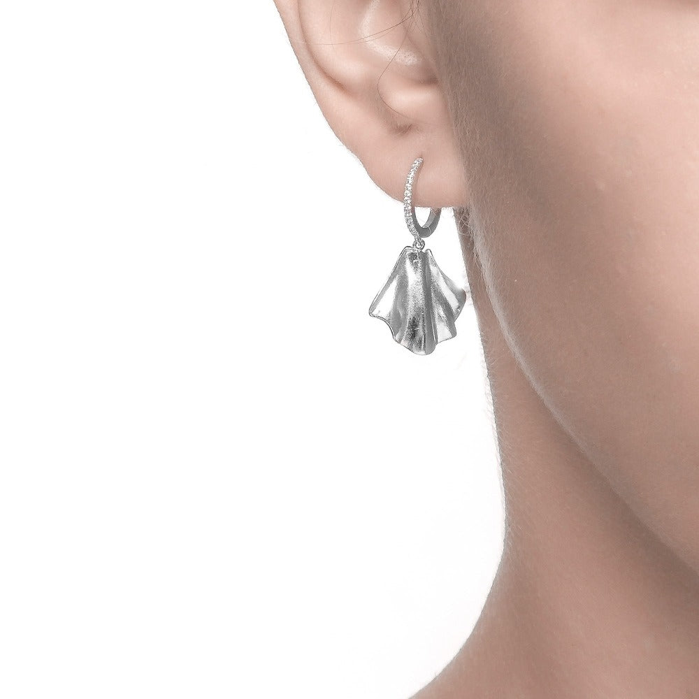 Carmenta | Bali Earrings  | 925 Silver | White CZ | White Rhodium Plated