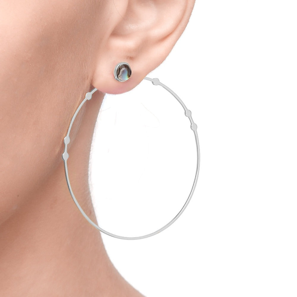 Spirito Rosa x Queen Dina Fall | Kanya Earrings | 925 Silver | White Rhodium Plated
