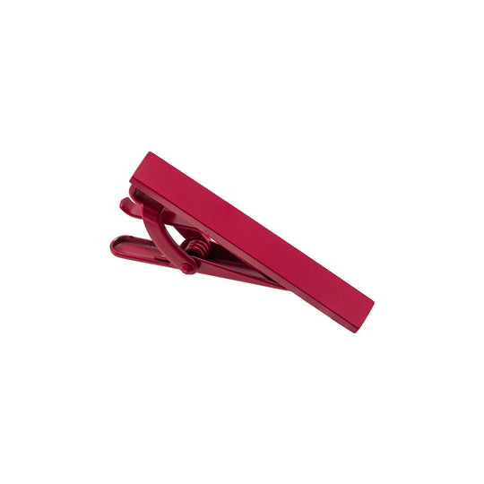 Aeon | Milan Tie Clip | Red Enamel Coated Stainless Steel