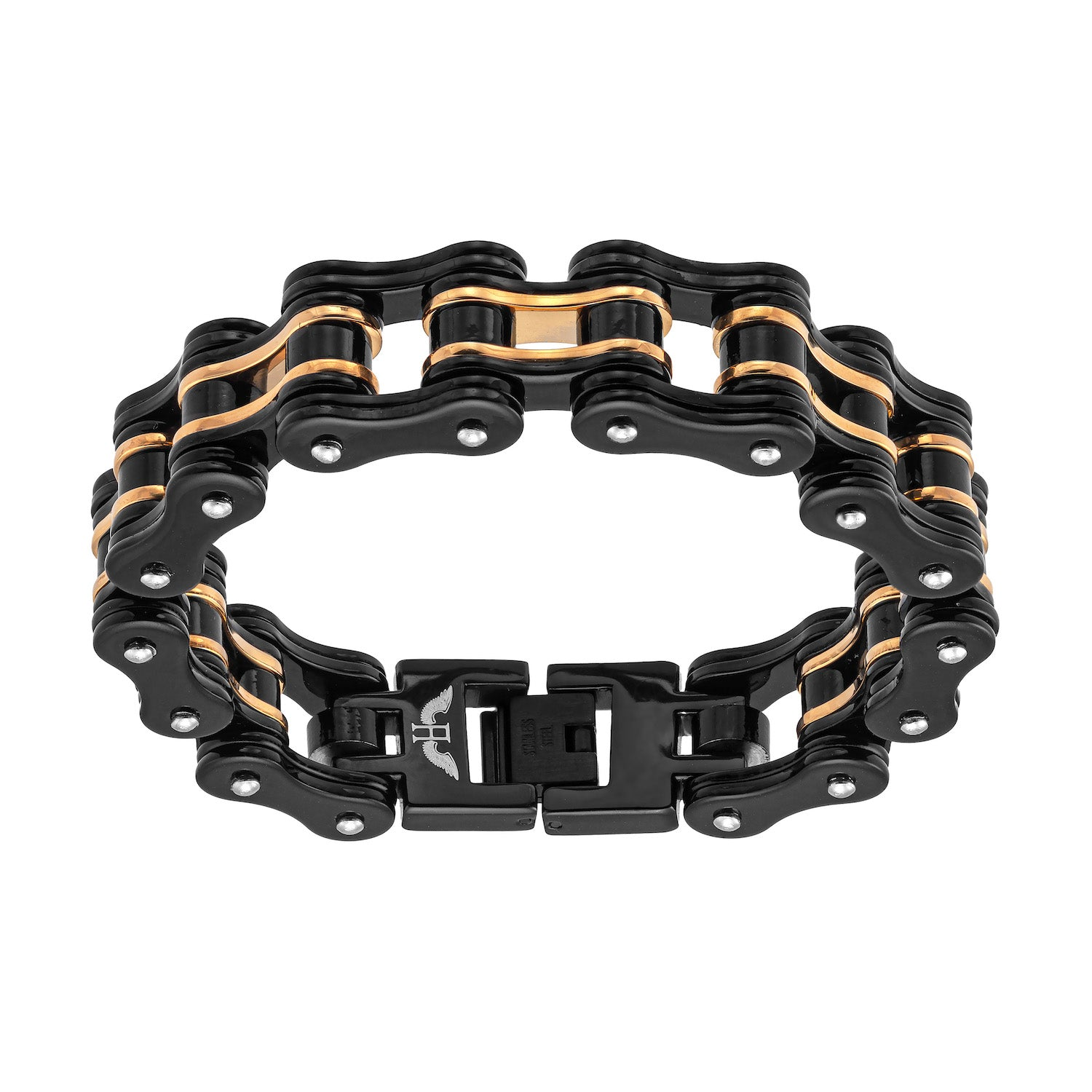 Aeon | Amsterdam Bracelet | Black and Gold Ion Plated Stainless Steel