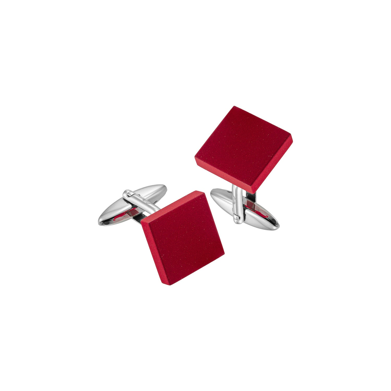 Aeon | Florence Cufflinks | Red Matt Enamel Coated Stainless Steel