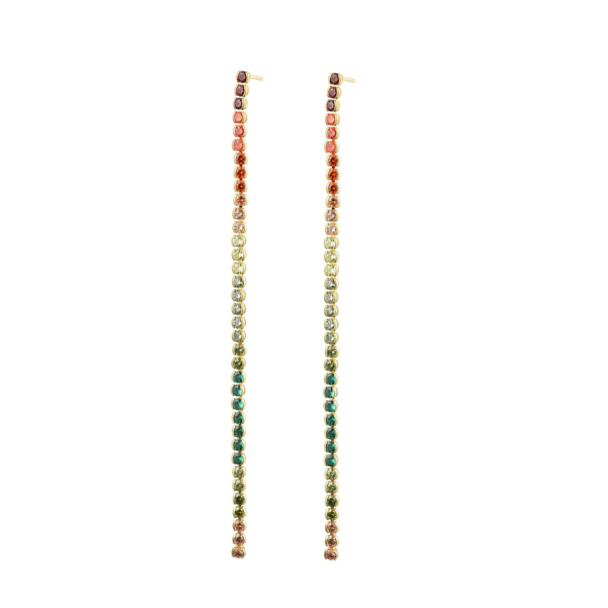 Ferentina | Macaron Earrings | 925 Silver | Multicolor CZ | 18K Gold Plated