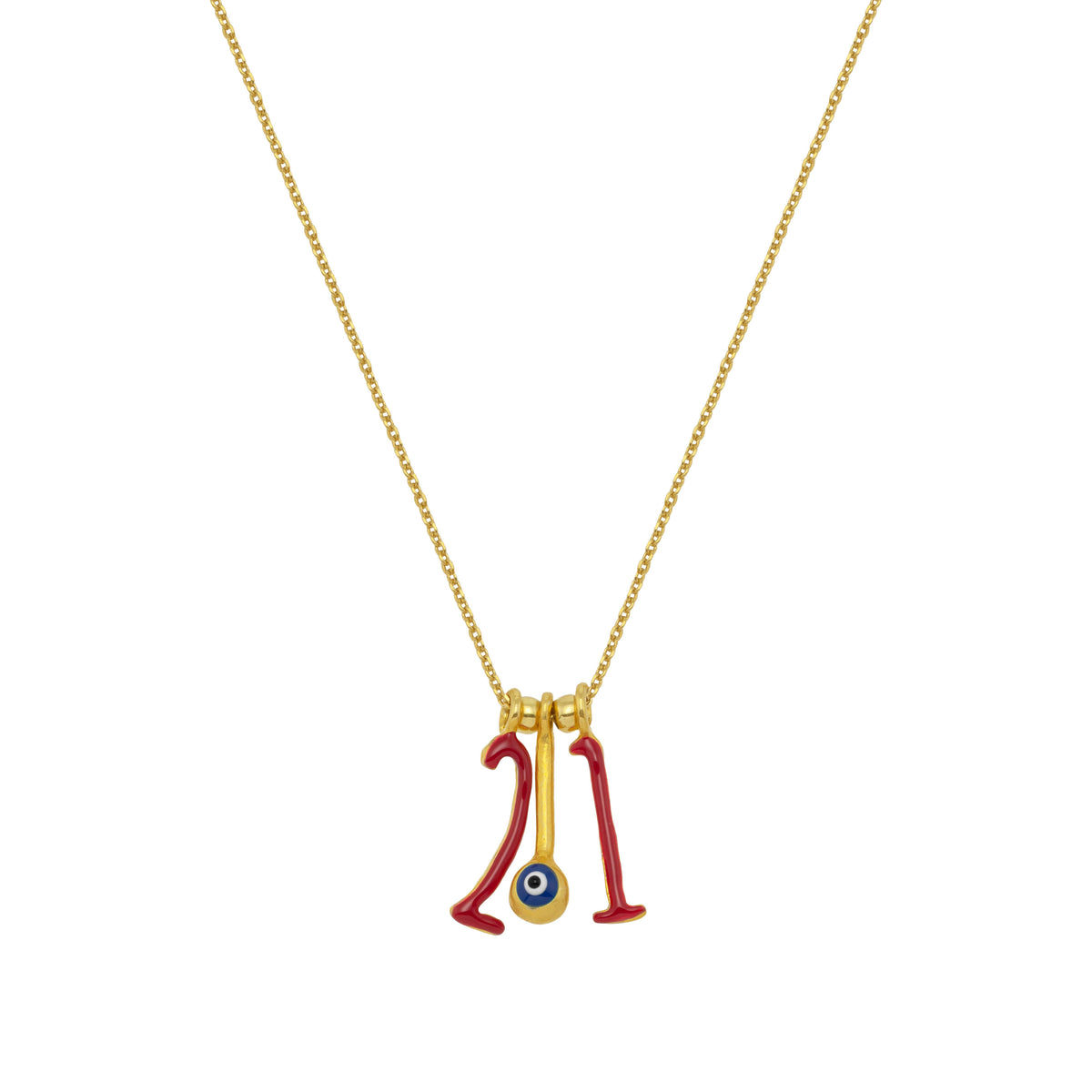 CHARMS: 2021 | Red Enamel | 18K Gold Plated Silver