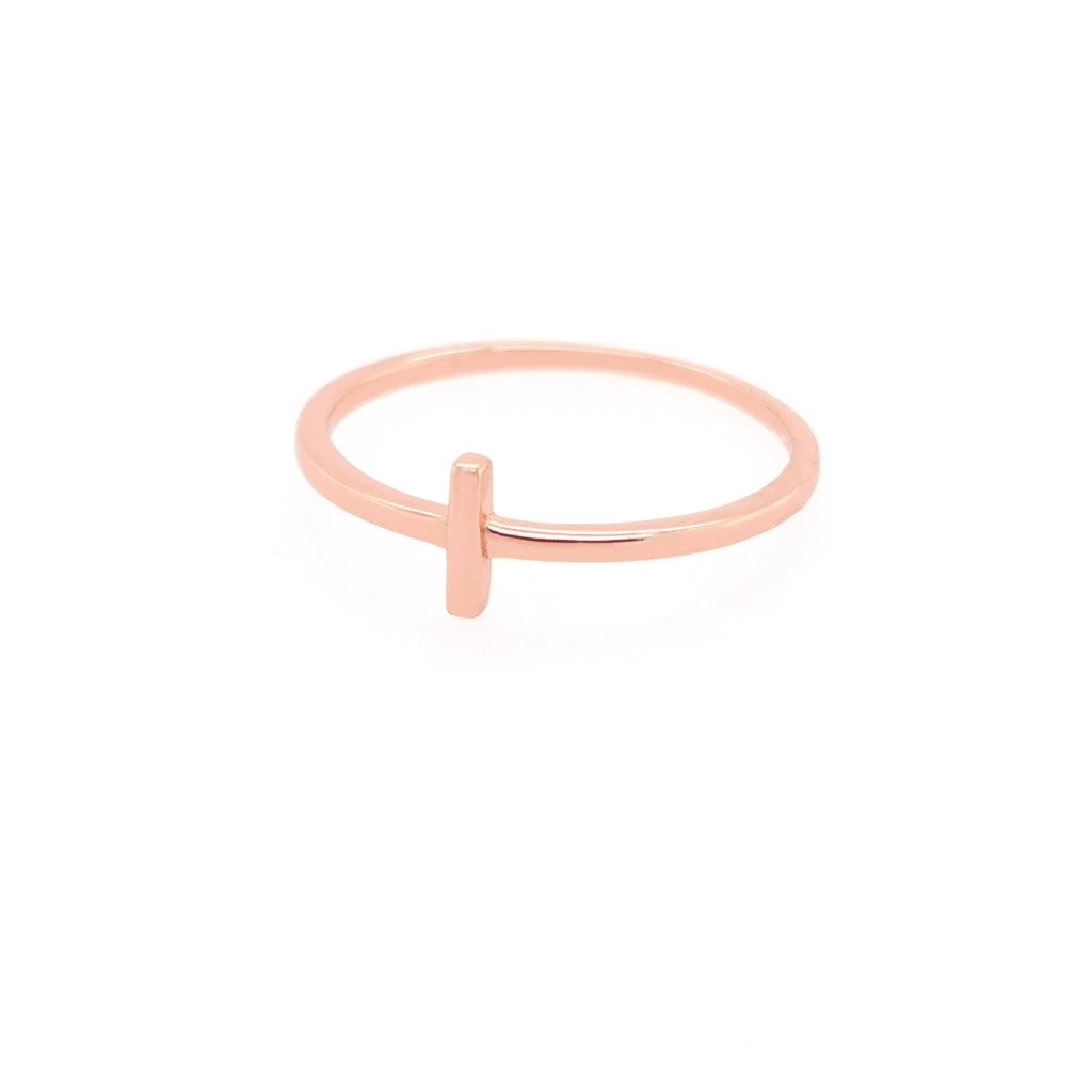 Deverra - Small Bar Ring - Rose Gold Plated Silver - Spirito Rosa | Βραβευμένα Κοσμήματα σε Απίστευτες Τιμές