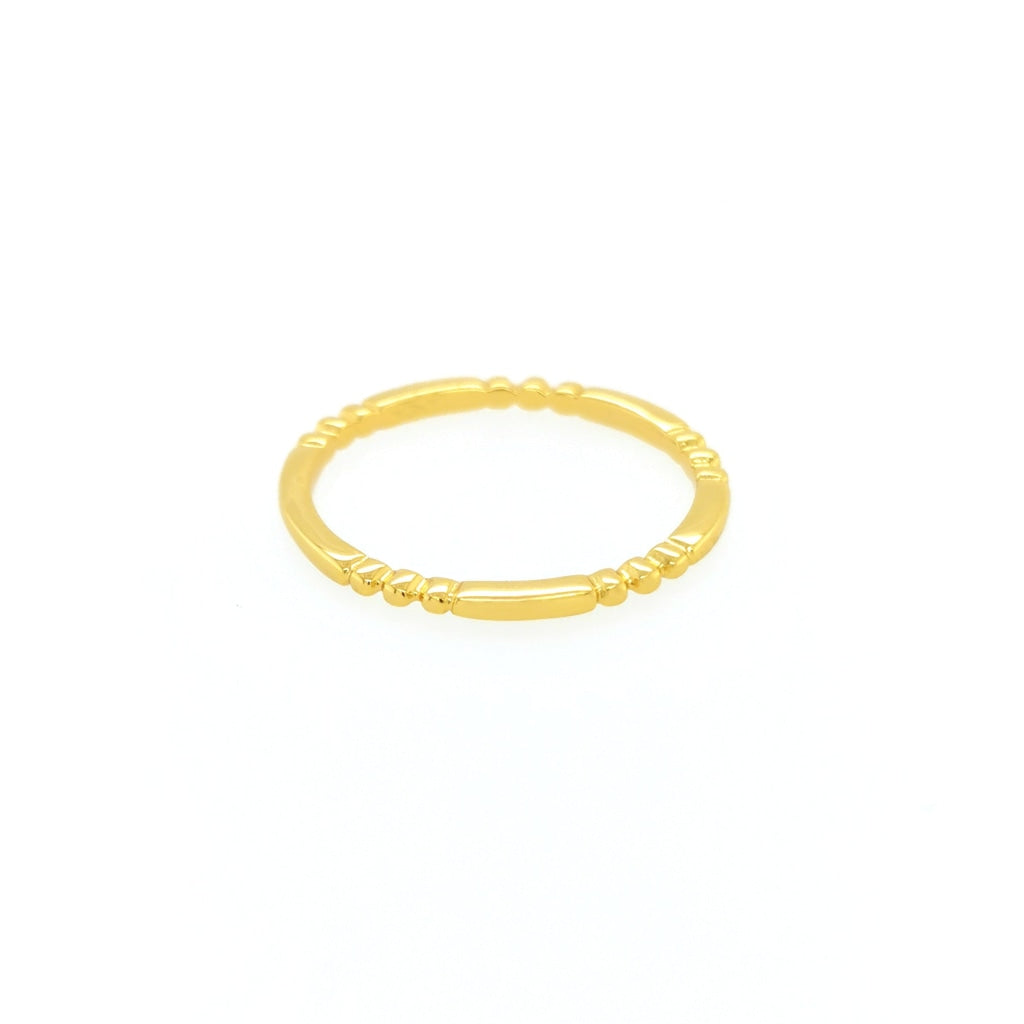 Deverra - Small Detailed Ring - Gold Plated Silver - Spirito Rosa | Βραβευμένα Κοσμήματα σε Απίστευτες Τιμές