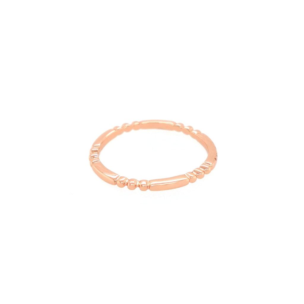 Deverra - Small Detailed Ring - Rose Gold Plated Silver - Spirito Rosa | Βραβευμένα Κοσμήματα σε Απίστευτες Τιμές
