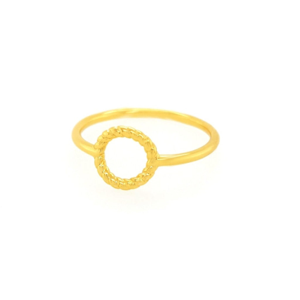 Deverra - Circled Braid Ring - Gold Plated Silver - Spirito Rosa | Βραβευμένα Κοσμήματα σε Απίστευτες Τιμές