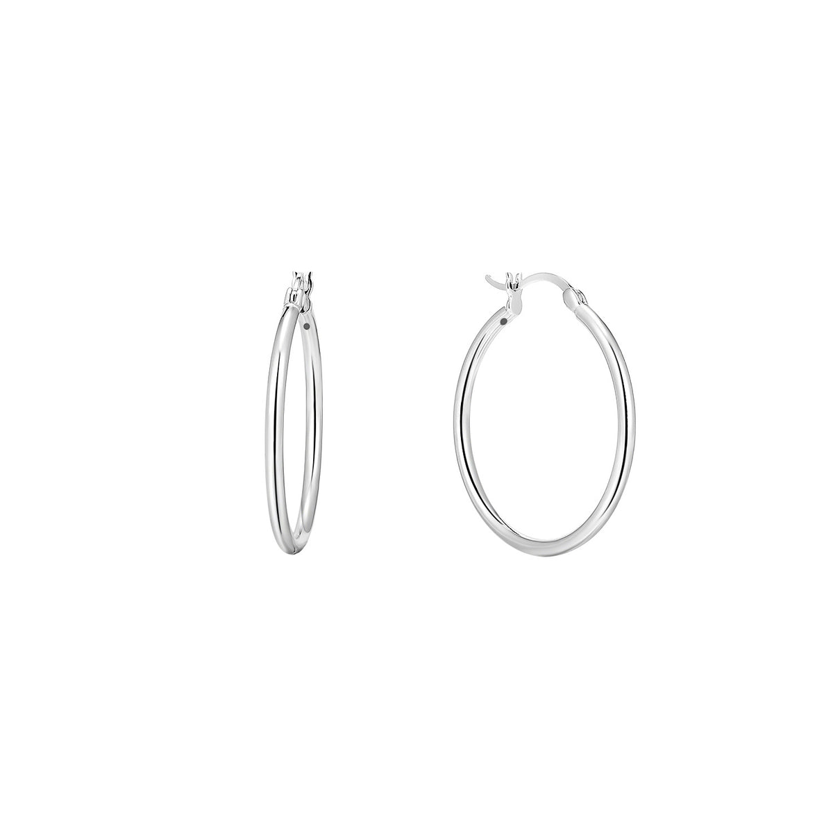 Magna | Toddler Hoop Earrings | White Rhodium Plated 925 Silver