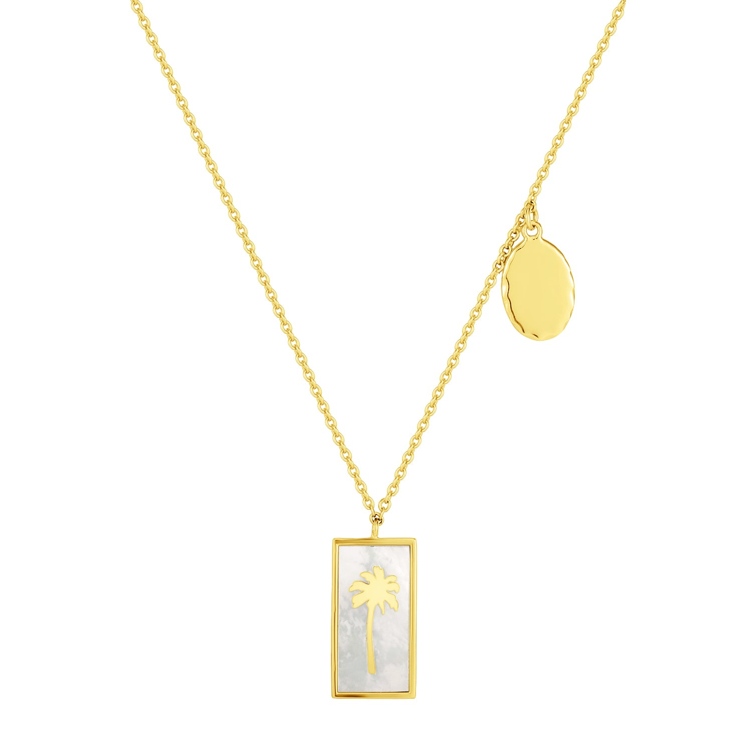 Spirito Rosa X Queen Dina Summer | Sunny Necklace | 925 Silver | Mother of Pearl | 14K Gold Plated