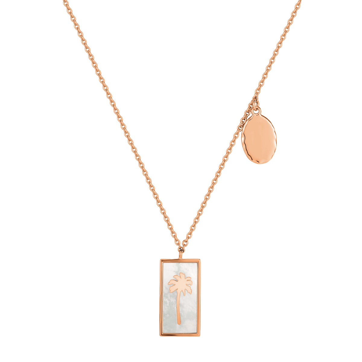 Spirito Rosa X Queen Dina Summer | Sunny Necklace | 925 Silver | Mother of Pearl | Rose Gold Plated
