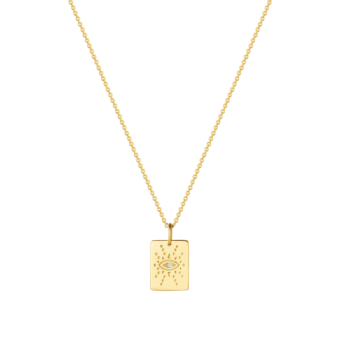 Wish Pendants | Creativity & Confidence Pendant | White CZ | 14K Gold Plated 925 Silver