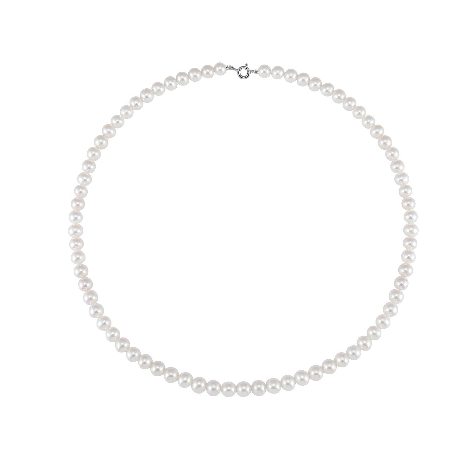 Magna | Ocean Necklace  | White Pearl Small | White Rhodium Plated 925 Silver