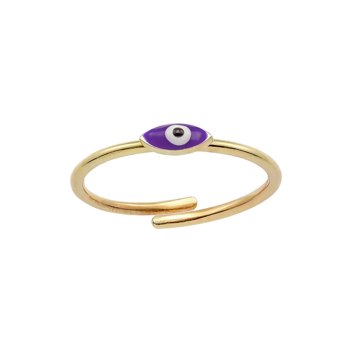 MATI | Tiny Marquise Ring | Violet Enamel | 18K Gold Plated 925 Silver