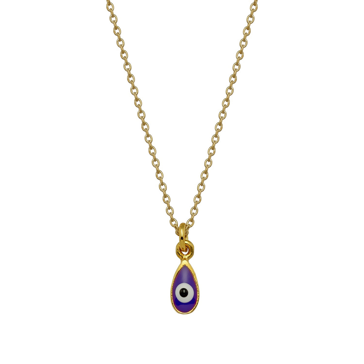 MATI | Drop Necklace | Purple Enamel | 18K Gold Plated 925 Silver