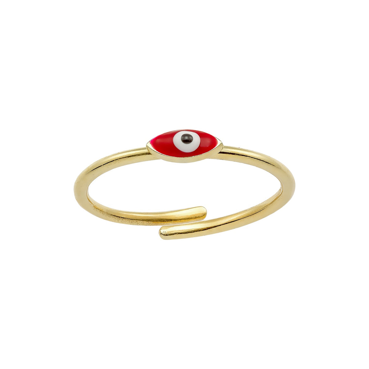 MATI | Tiny Marquise Ring | Red Enamel | 18K Gold Plated 925 Silver