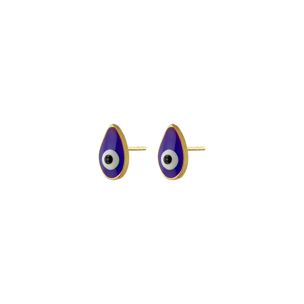 MATI | Drop Studs | Purple Enamel | 18K Gold Plated 925 Silver