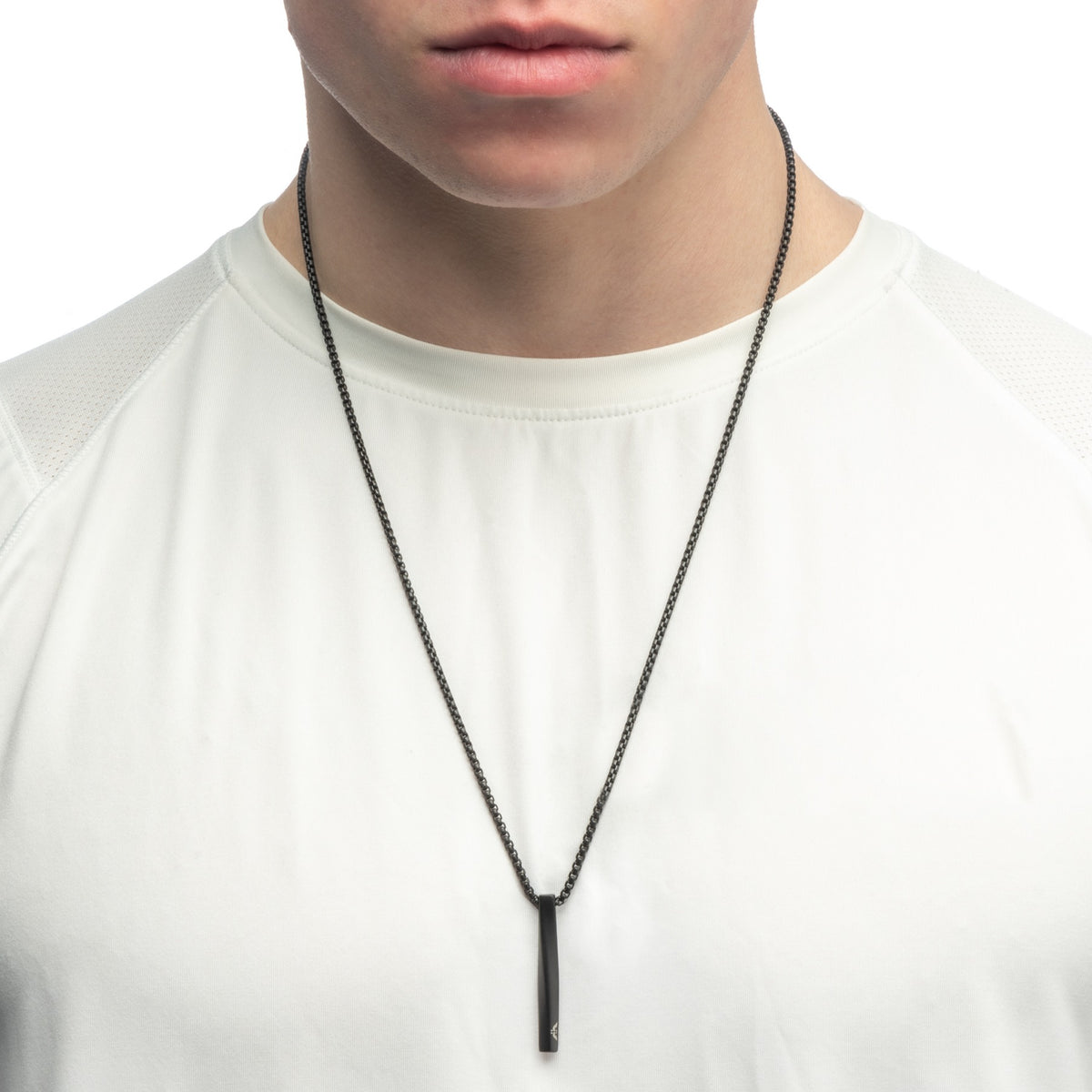 Aeon | Budapest Necklace | Matt Black Ion Plated Stainless Steel
