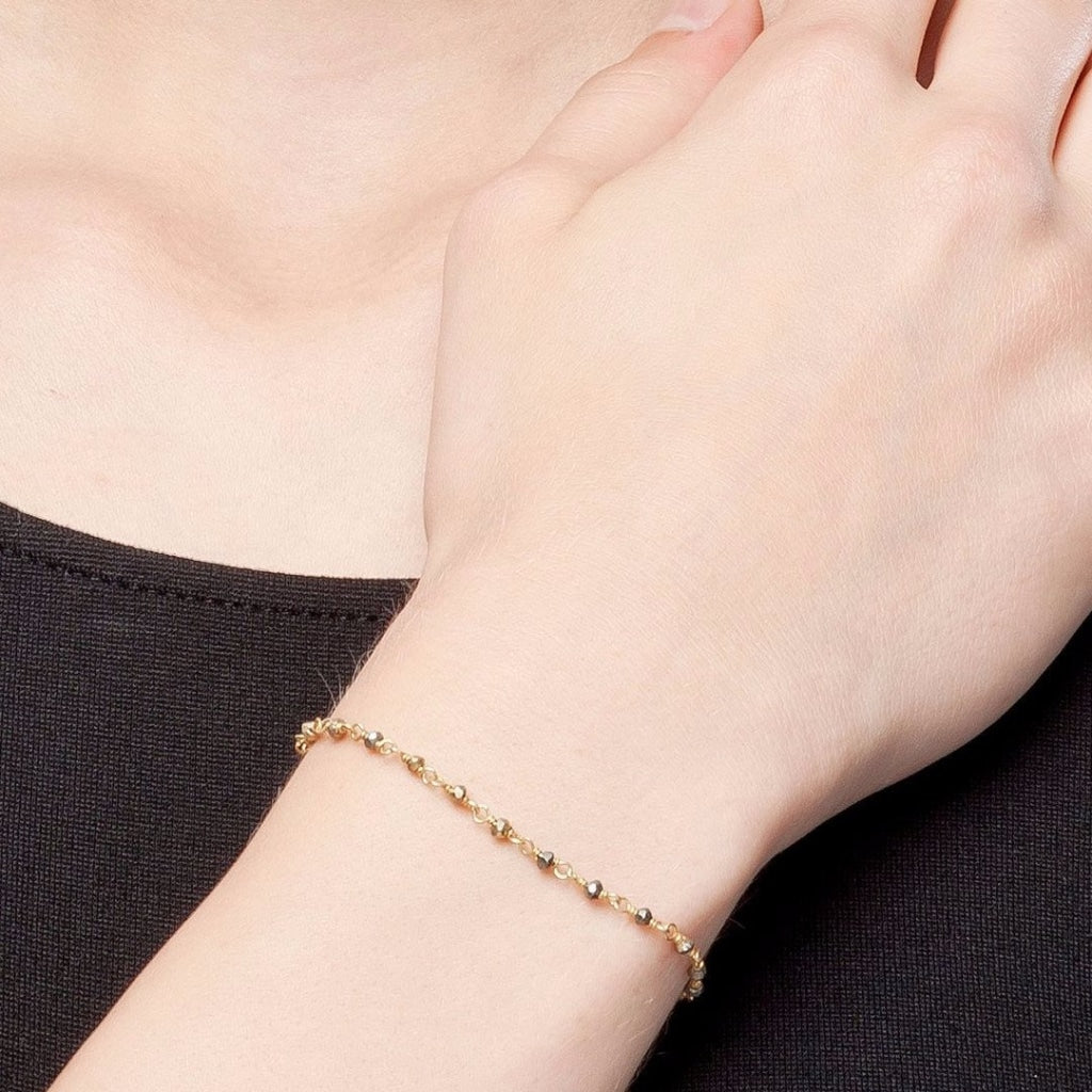 Argentum Bracelet - Pyrite Gold Plated Silver