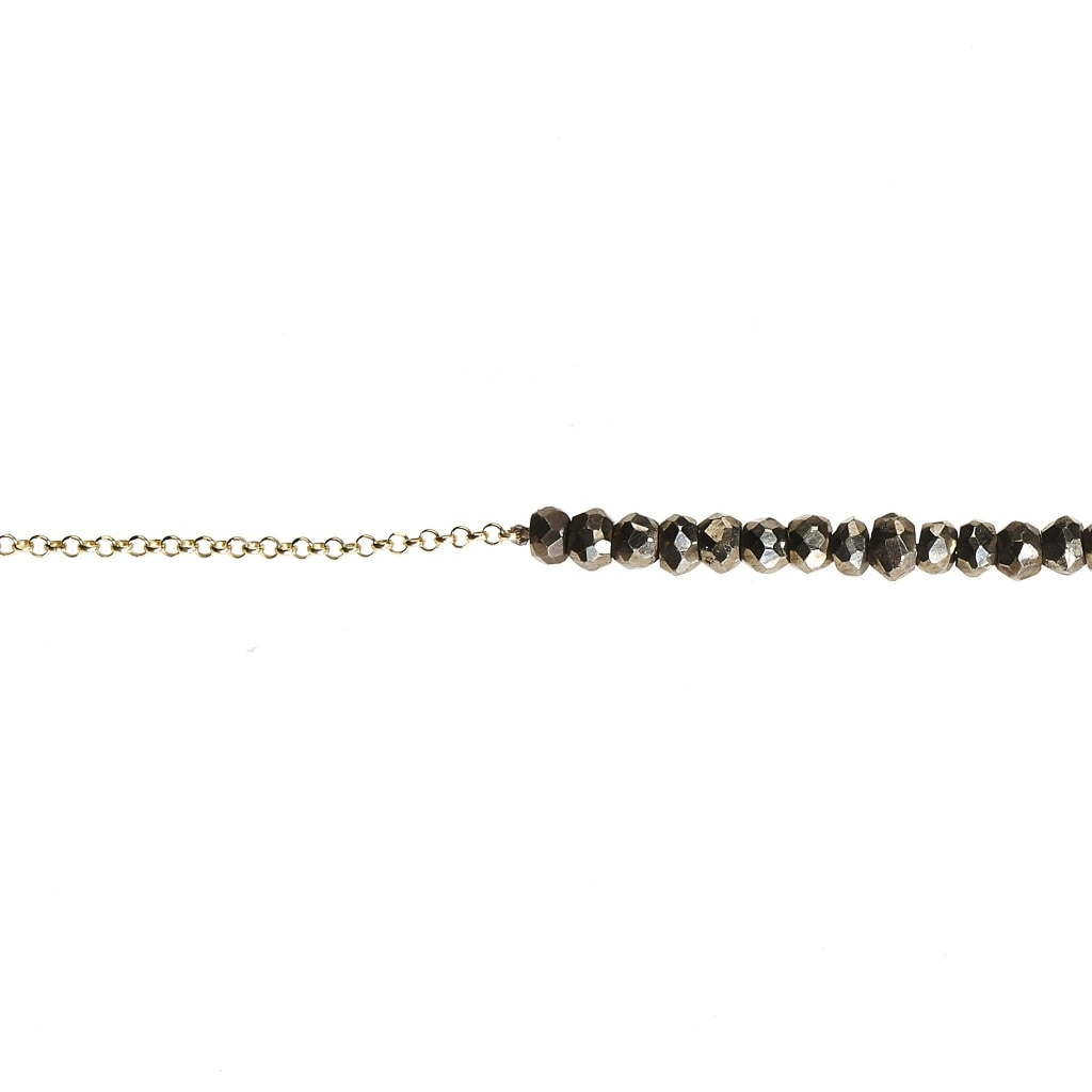 Argentum Tantum Chain Short Necklace - Pyrite Gold Plated Silver