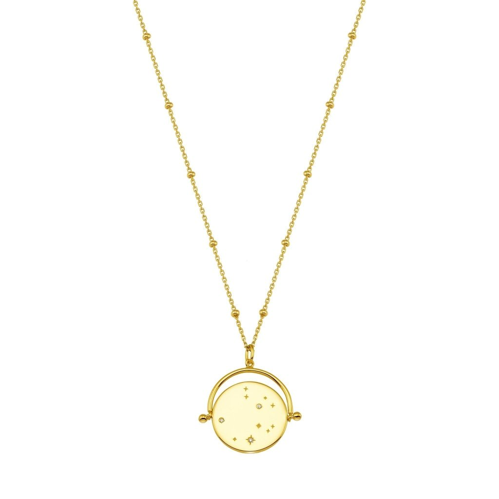 Aurora Constellation Necklace | White CZ | Gold Plated 925 Silver - Spirito Rosa | Βραβευμένα Κοσμήματα σε Απίστευτες Τιμές