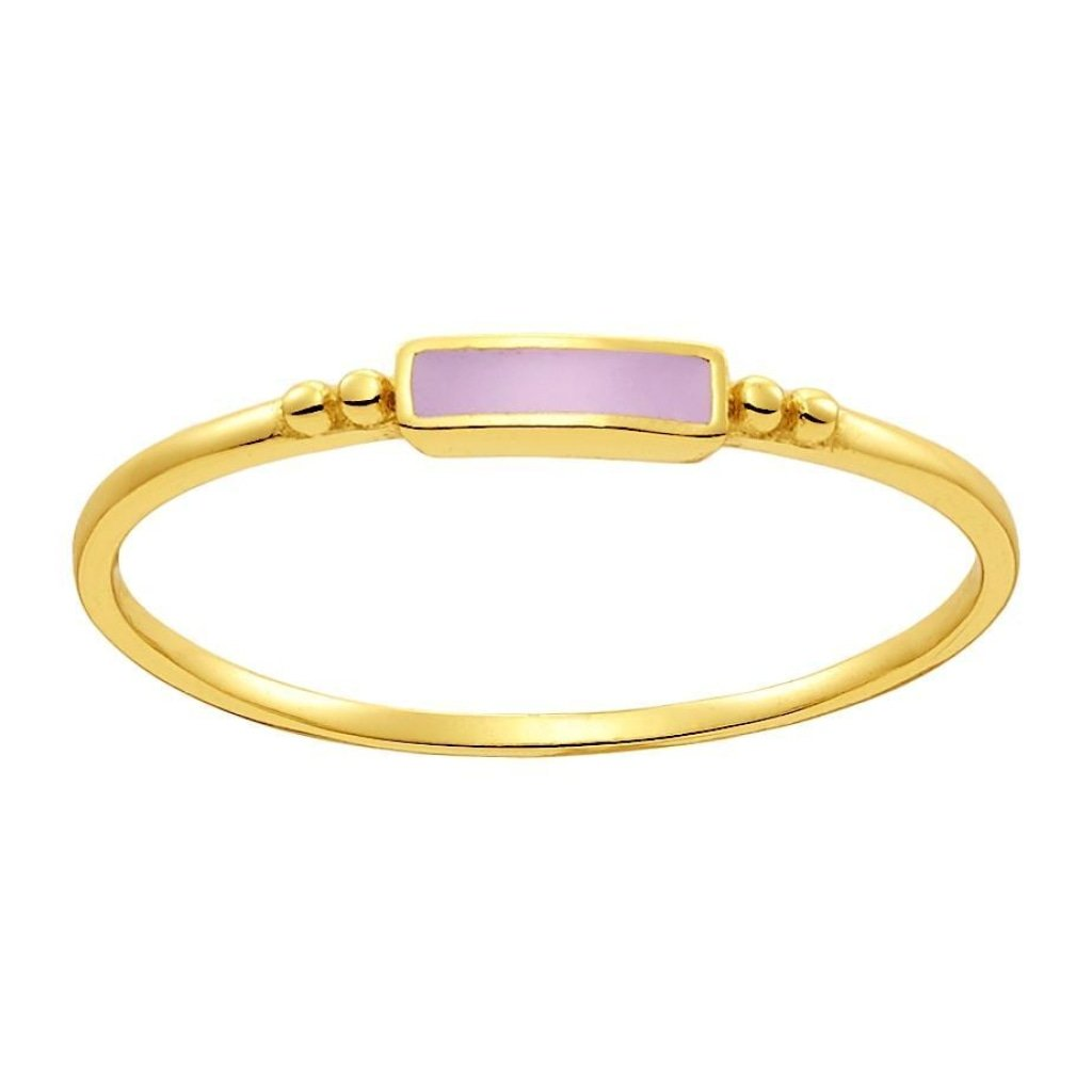 Aurora Tiny Candy Ring | Pink Enamel | Gold Plated 925 Silver - Spirito Rosa | Βραβευμένα Κοσμήματα σε Απίστευτες Τιμές