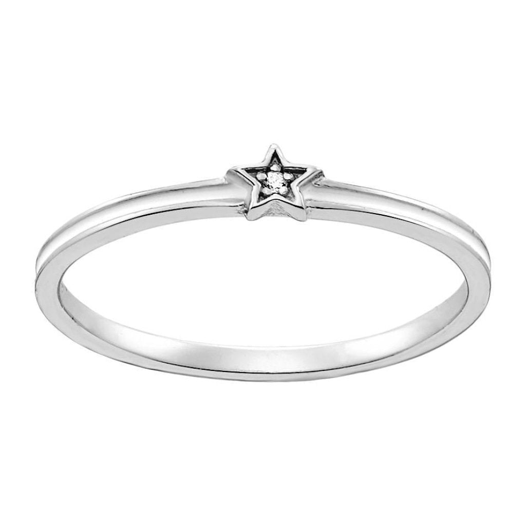 Aurora Tiny White Star Ring | White CZ White Enamel | White Rhodium Plated 925 Silver - Spirito Rosa | Βραβευμένα Κοσμήματα σε Απίστευτες Τιμές