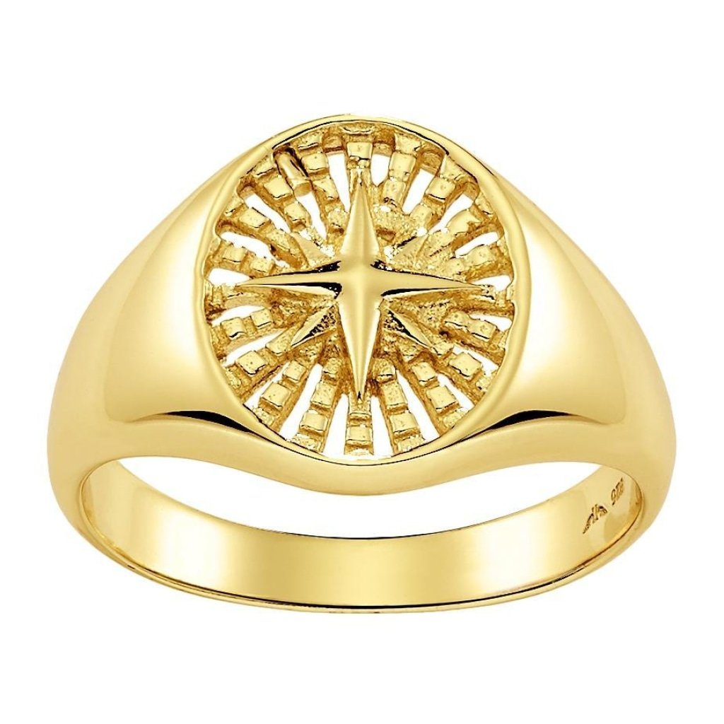 Aurora Trasparent Star Ring | Gold Plated 925 Silver - Spirito Rosa | Βραβευμένα Κοσμήματα σε Απίστευτες Τιμές