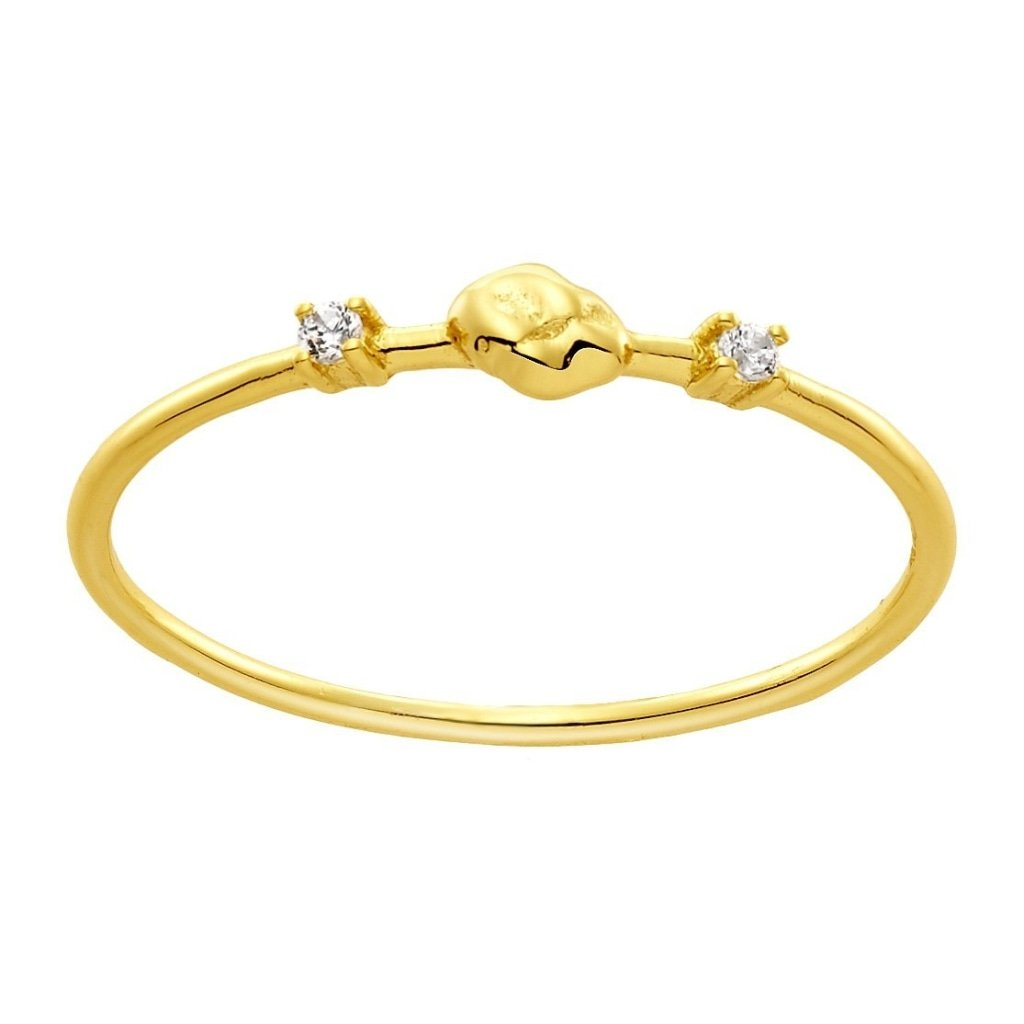 Aurora Unity Ring | White CZ | Gold Plated 925 Silver - Spirito Rosa | Βραβευμένα Κοσμήματα σε Απίστευτες Τιμές