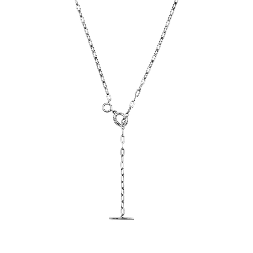 Bellona | Bond Necklace | 925 Silver | White Rhodium Plated - Spirito Rosa | Βραβευμένα Κοσμήματα σε Απίστευτες Τιμές