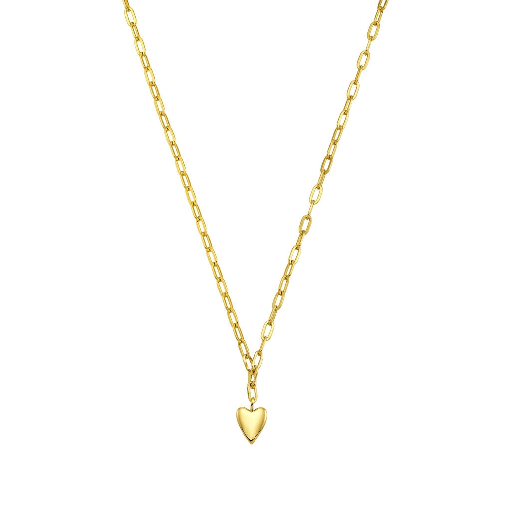 Bellona | Hearty Necklace | 925 Silver | 14K Gold Plated - Spirito Rosa | Βραβευμένα Κοσμήματα σε Απίστευτες Τιμές