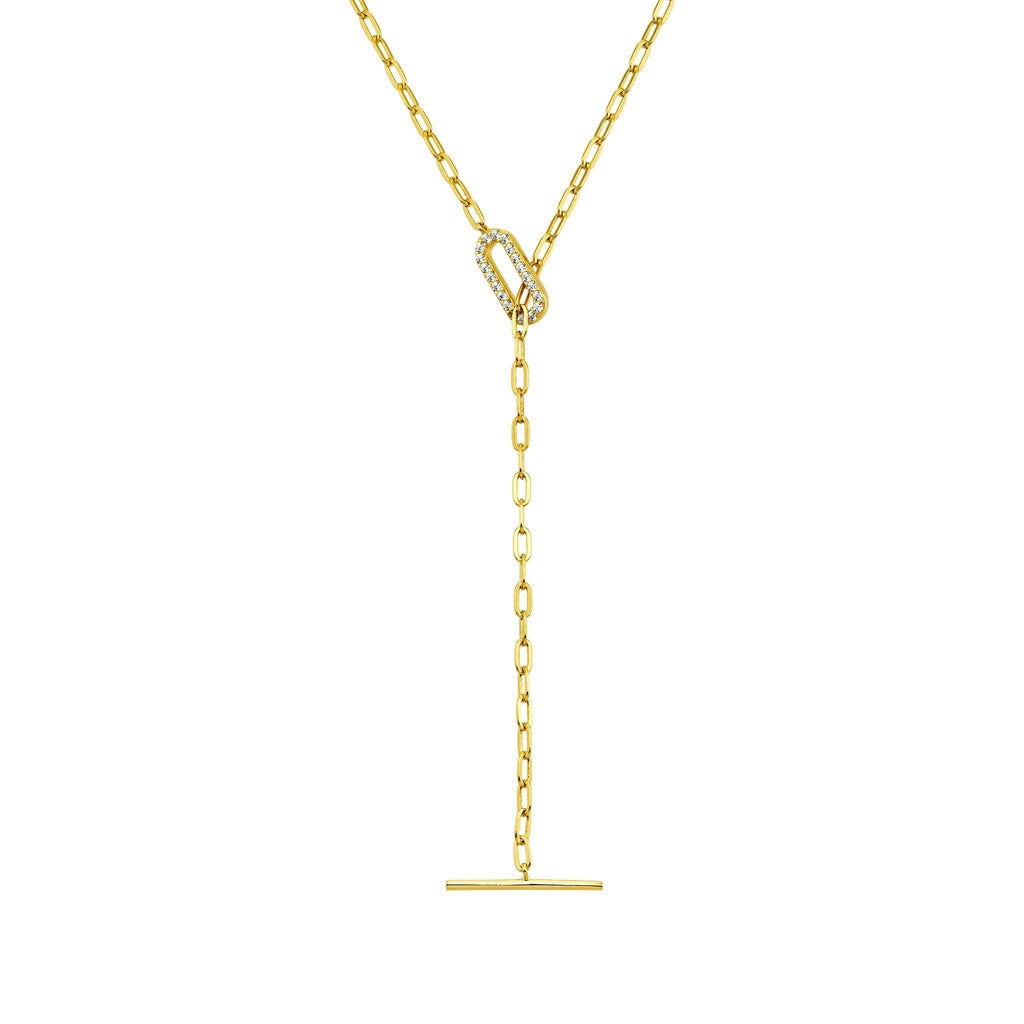 Bellona | Promise Necklace | White CZ | 925 Silver | 14K Gold Plated - Spirito Rosa | Βραβευμένα Κοσμήματα σε Απίστευτες Τιμές