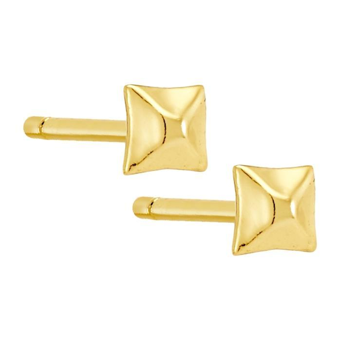 Bellona | Pyramid Studs | 925 Silver | 14K Gold Plated - Spirito Rosa | Βραβευμένα Κοσμήματα σε Απίστευτες Τιμές