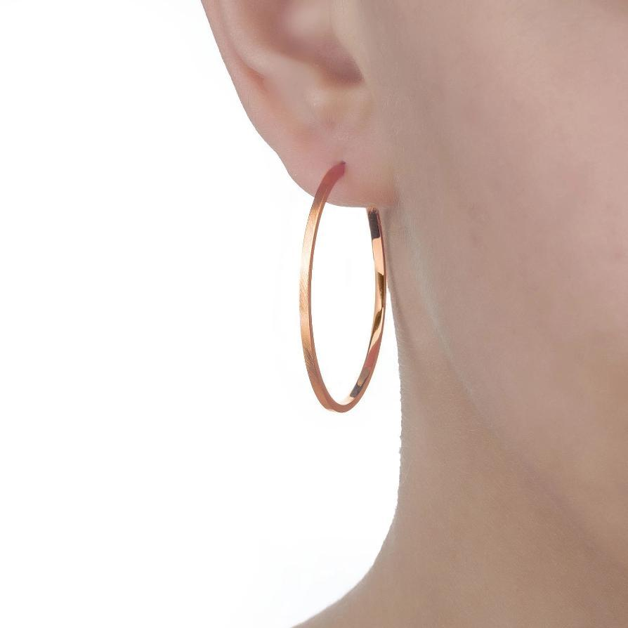 Bellona | Saturn Hoops | 925 Silver | Rose Gold Plated - Spirito Rosa | Βραβευμένα Κοσμήματα σε Απίστευτες Τιμές