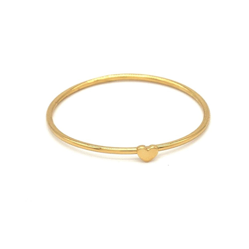 Clementia - One Heart Ring Gold Plated Silver