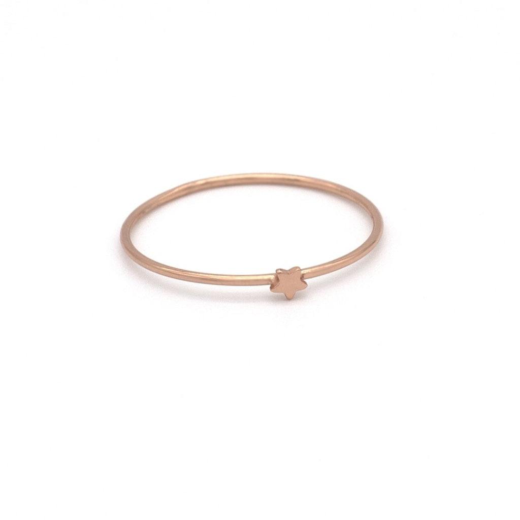 Clementia - One Star Ring Rose Gold Plated Silver 925