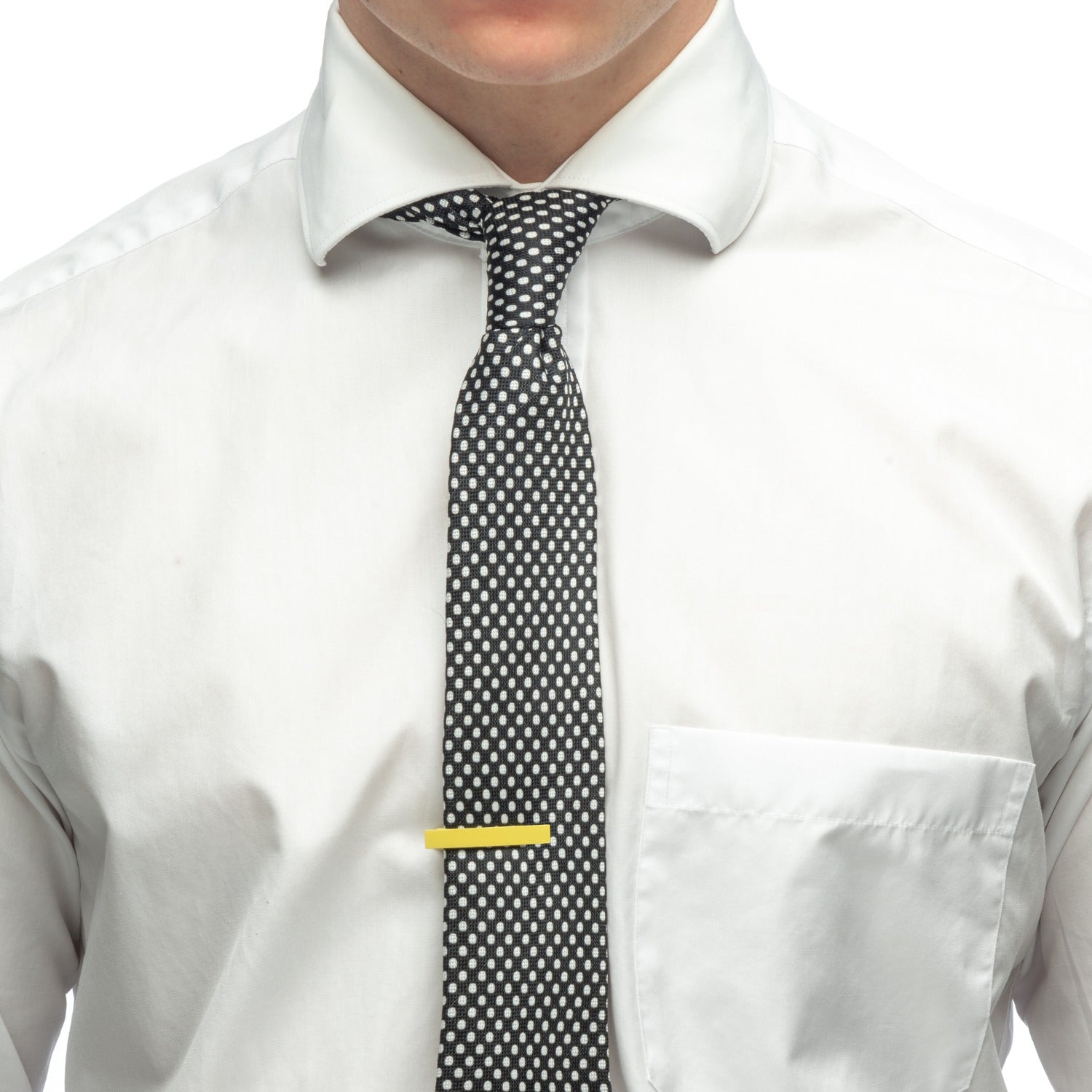 Aeon | Milan Tie Clip | Yellow Enamel Coated Stainless Steel