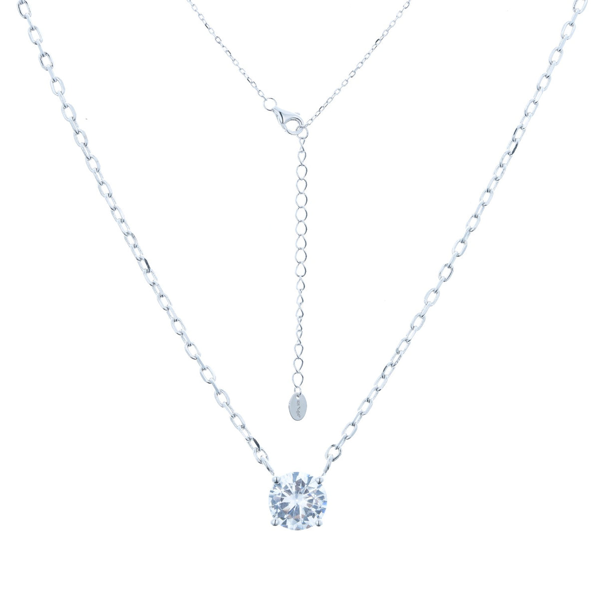 Fortuna | Positano Necklace | 925 Silver | White CZ | White Rhodium Plated