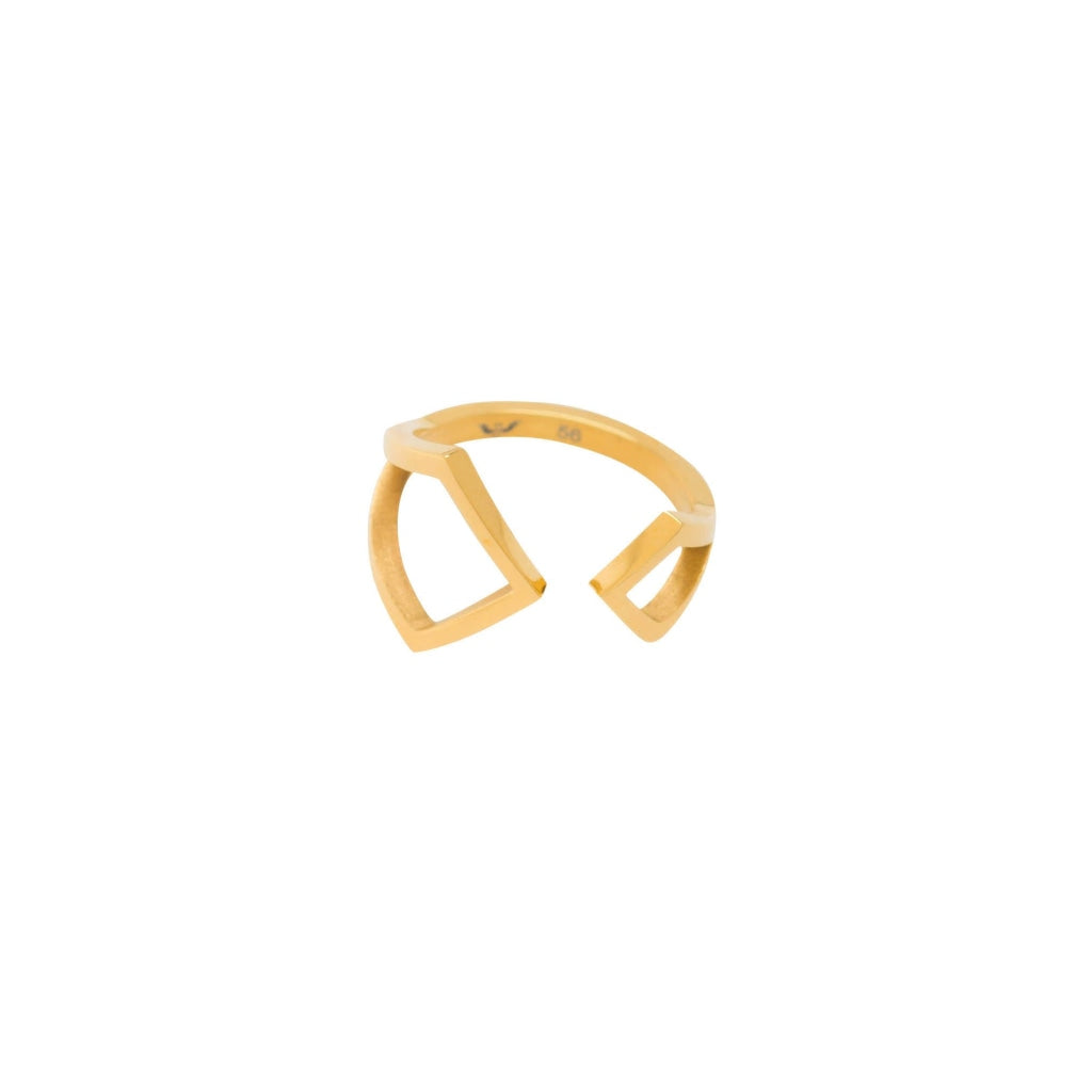 Ferro - Double Arrow Ring - Stainless Steel Ion Gold Plating - Spirito Rosa | Βραβευμένα Κοσμήματα σε Απίστευτες Τιμές