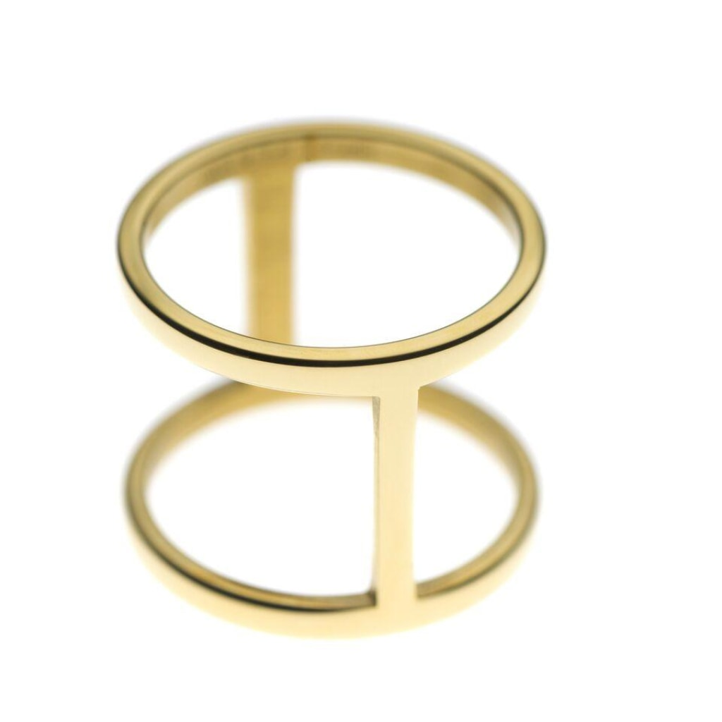Ferro - Double Ring Stainless Steel Ion Gold Plating 52