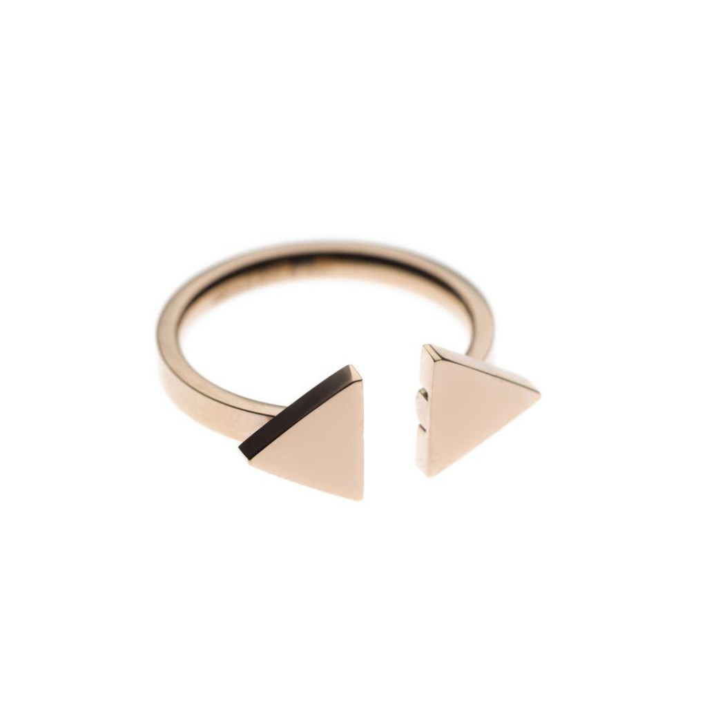 Ferro - Double Triangle Ring Stainless Steel Ion Rose Plating