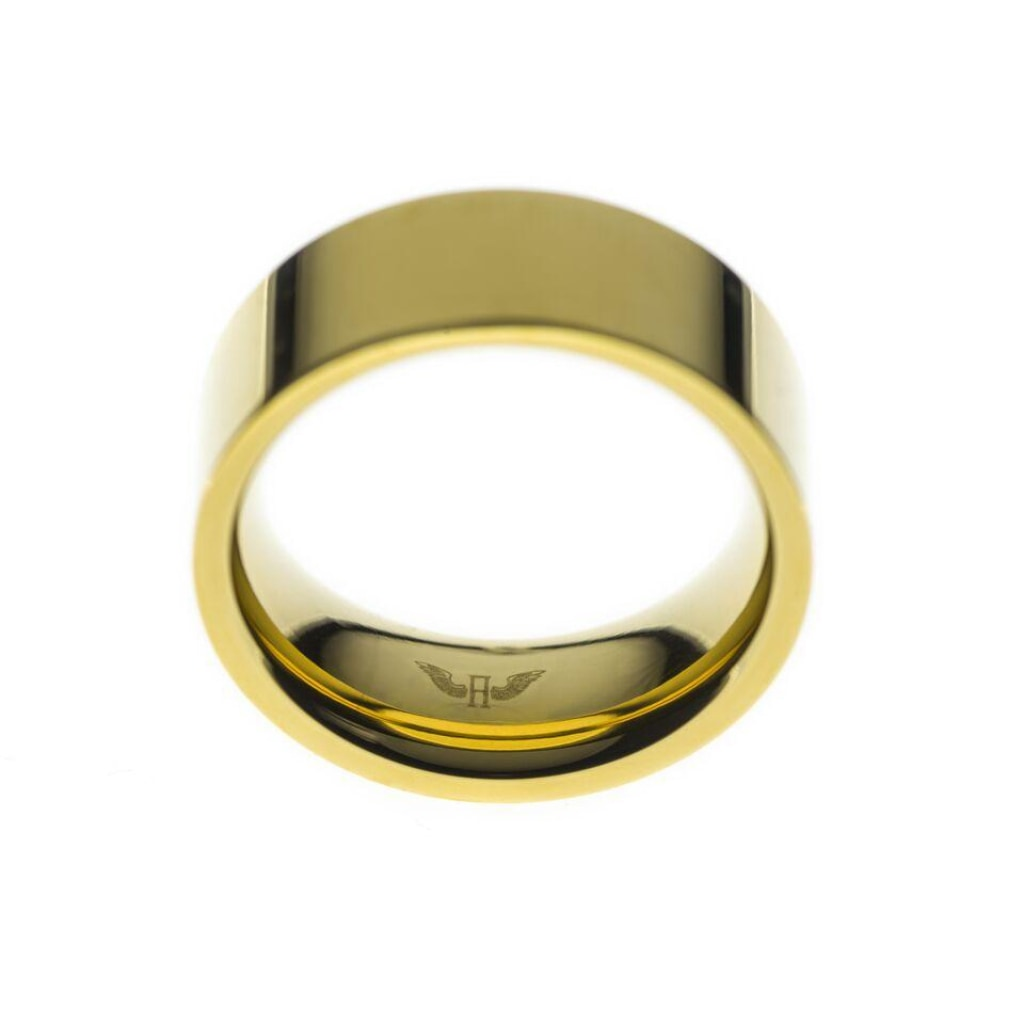 Ferro - Wide Ring Stainless Steel Ion Gold Plating