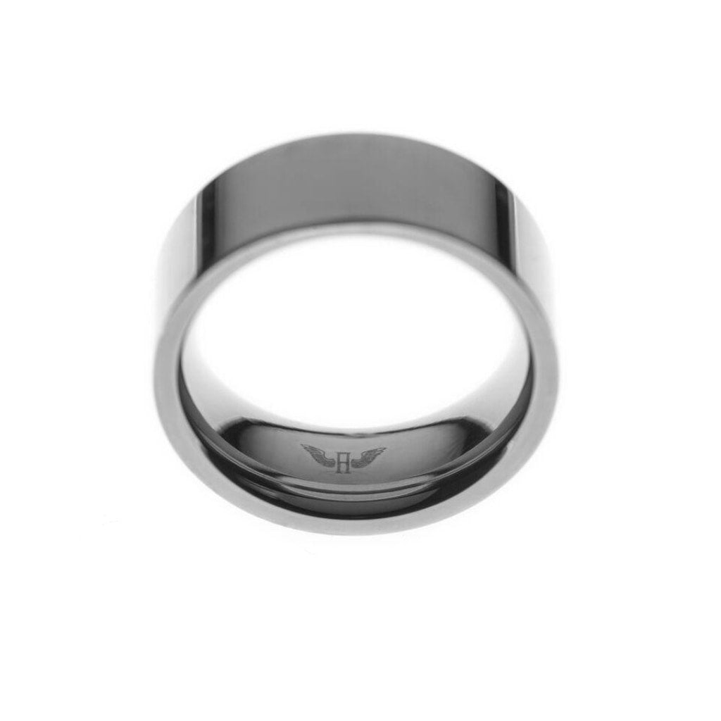 Ferro - Wide Ring Stainless Steel Ion White Plating