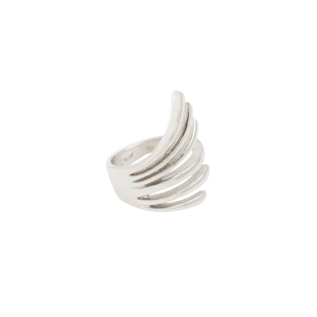 Ferro - Wind Ring - Stainless Steel Ion White Plating - Spirito Rosa | Βραβευμένα Κοσμήματα σε Απίστευτες Τιμές