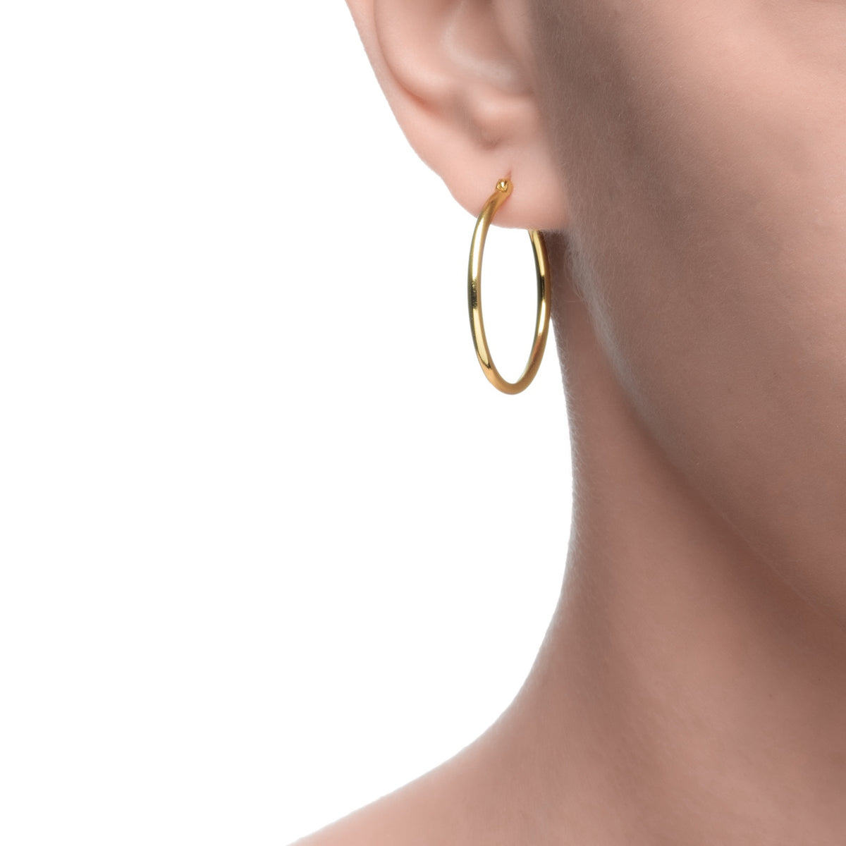 Magna | Toddler Hoop Earrings | 14K Gold Plated 925 Silver