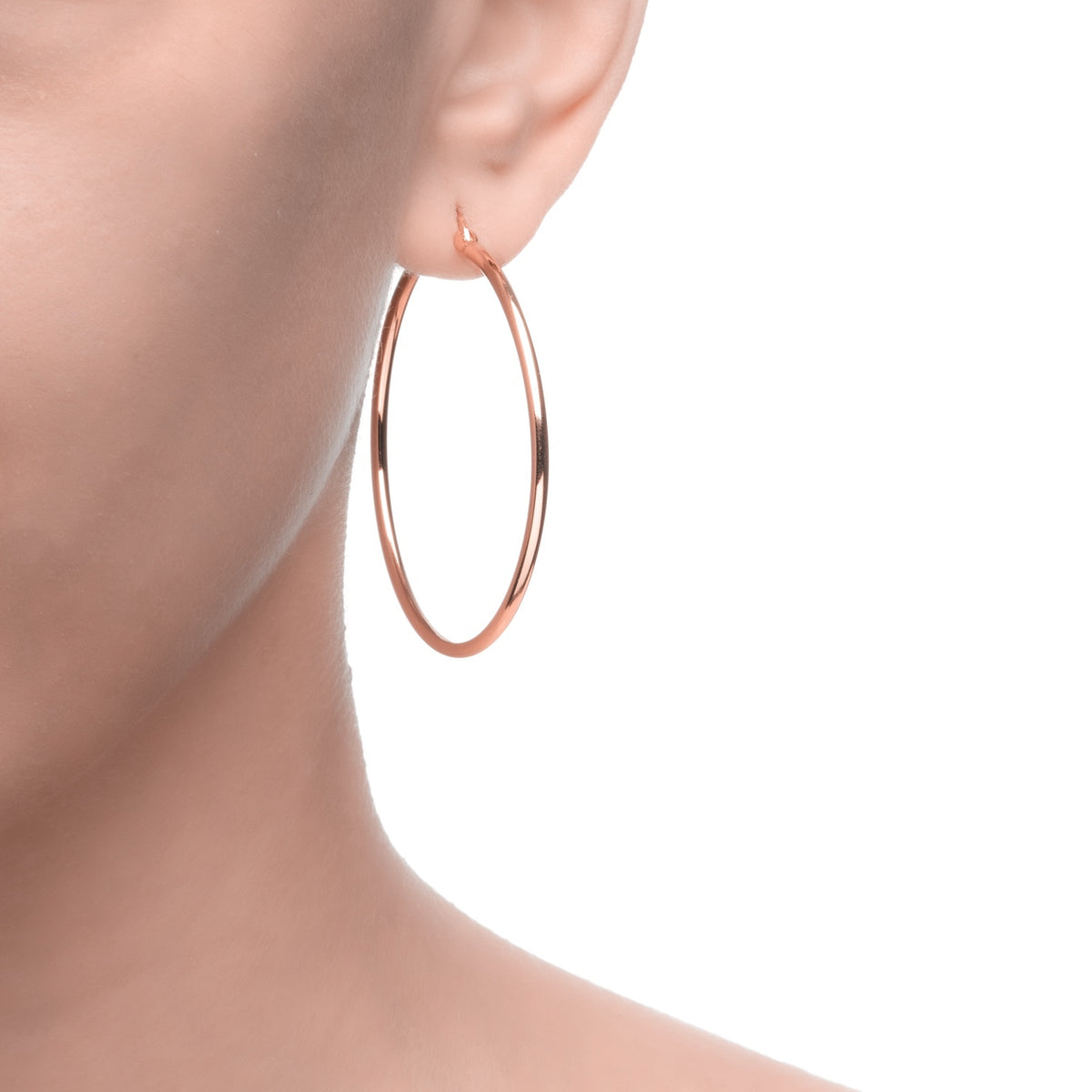 Magna | Teen Hoop Earrings | Rose Gold Plated 925 Silver