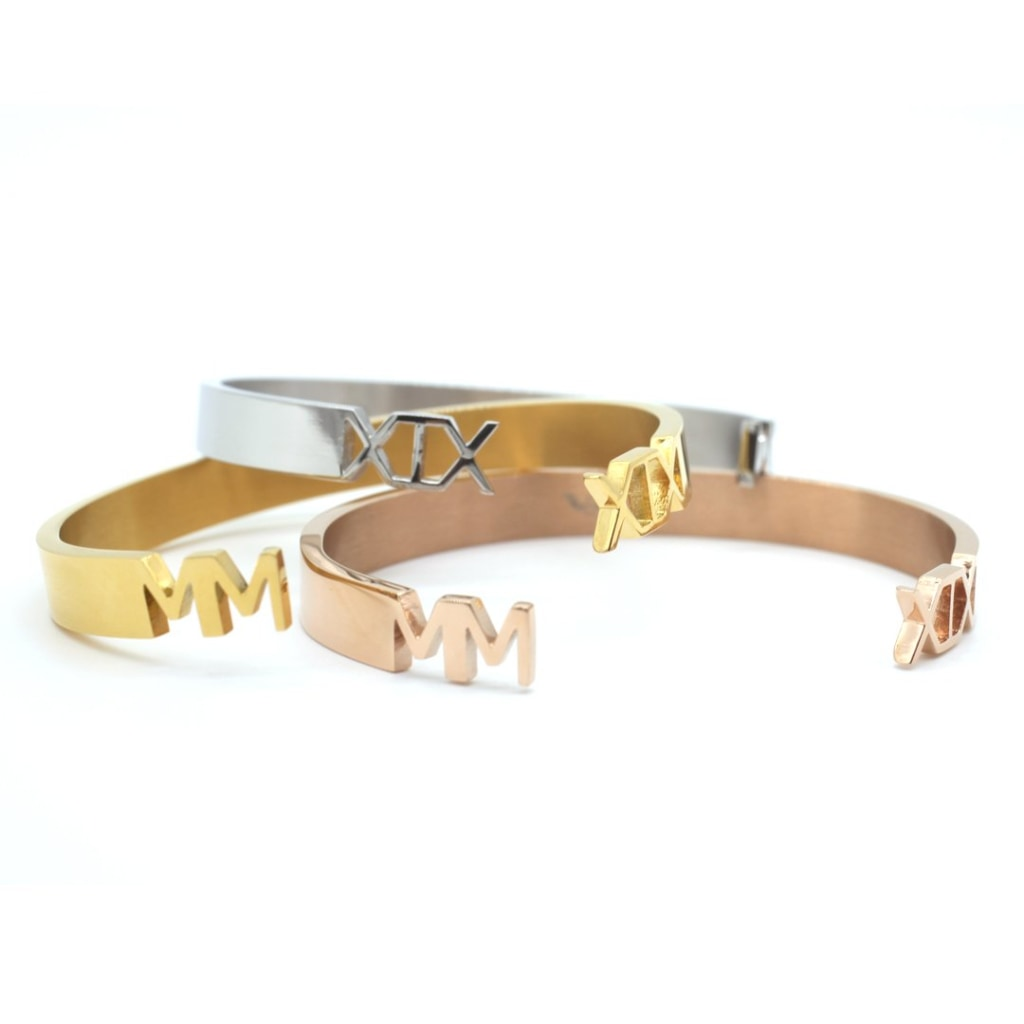 2019 - Concepto Bangle Stainless Steel Ion Gold Plating