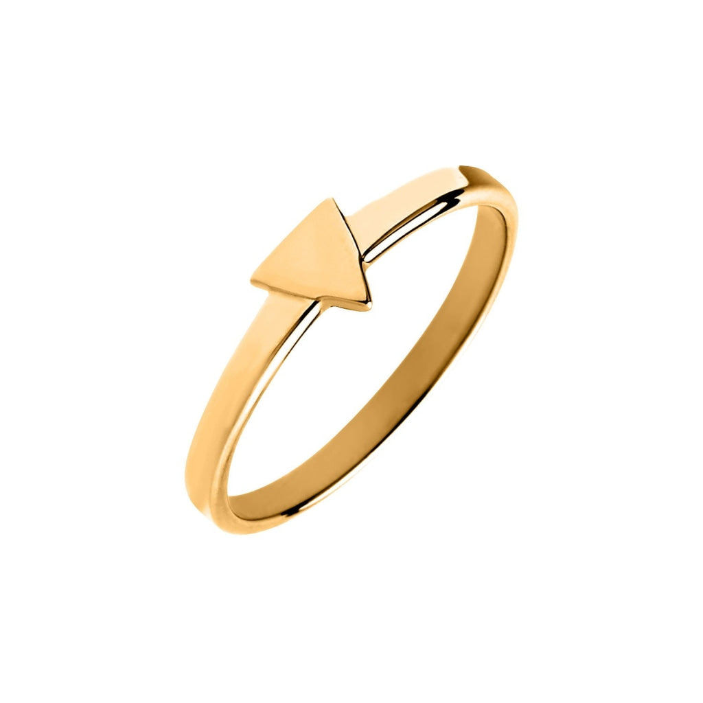 Novus SI - Triangle Ring - Gold Plated Silver 925 - Spirito Rosa | Βραβευμένα Κοσμήματα σε Απίστευτες Τιμές